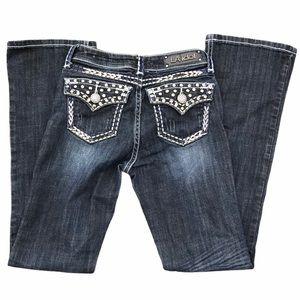 Girl's LA Idol USA Jeans Sz 12 Waist 25 Length 30